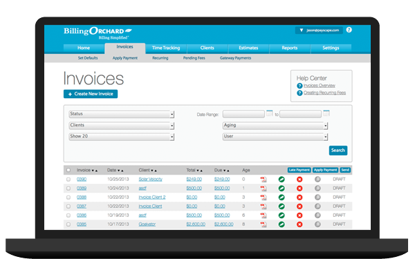 Online Invoicing And Electronic Billing Software Time Tracking - Invoice software program